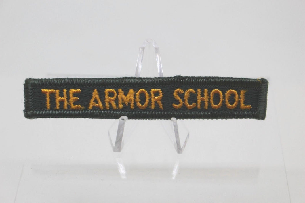 Army The Armor School Tab Patch, Sew On, New