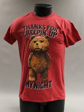 "Load image into Gallery viewer, ""Thanks For Creepin Up My Night"" T-Shirt, Size: Small"