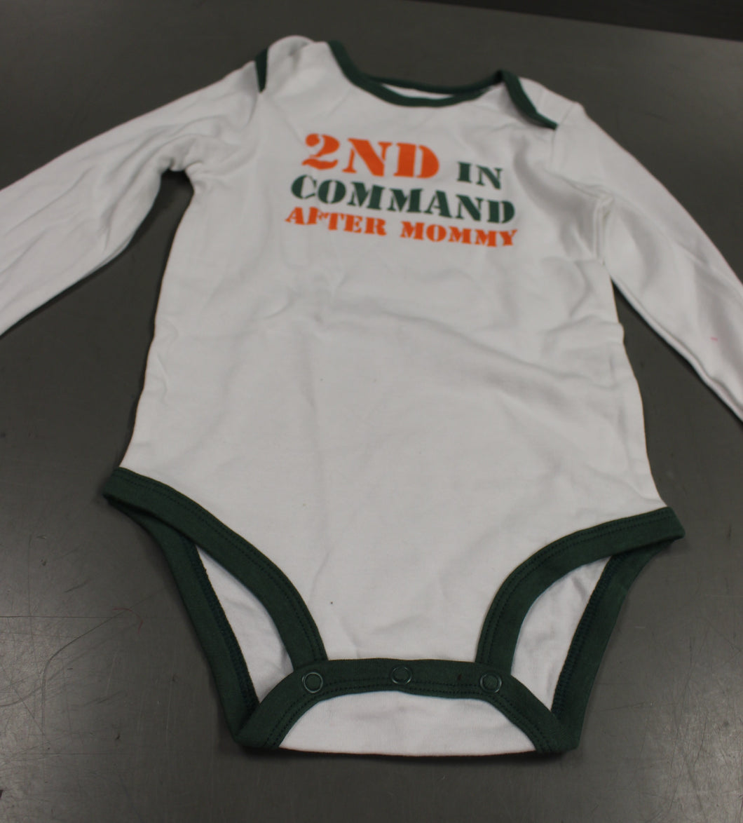 Carter's 2nd In Command After Mommy Onsie Bodysuit, 18 Months, New