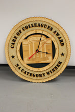 Load image into Gallery viewer, Care of Colleagues Award, NA Category Winner Clock, Battery Powered