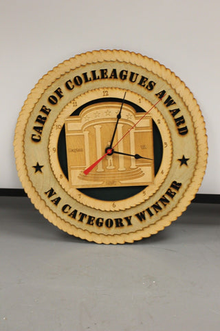 Care of Colleagues Award, NA Category Winner Clock, Battery Powered
