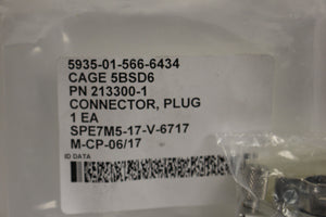 Electrical Plug Connector, 5935-01-566-6434, 93006A1315, 213300-1, New