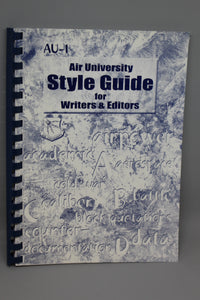 """Air University Style Guide for Writers and Editors"""