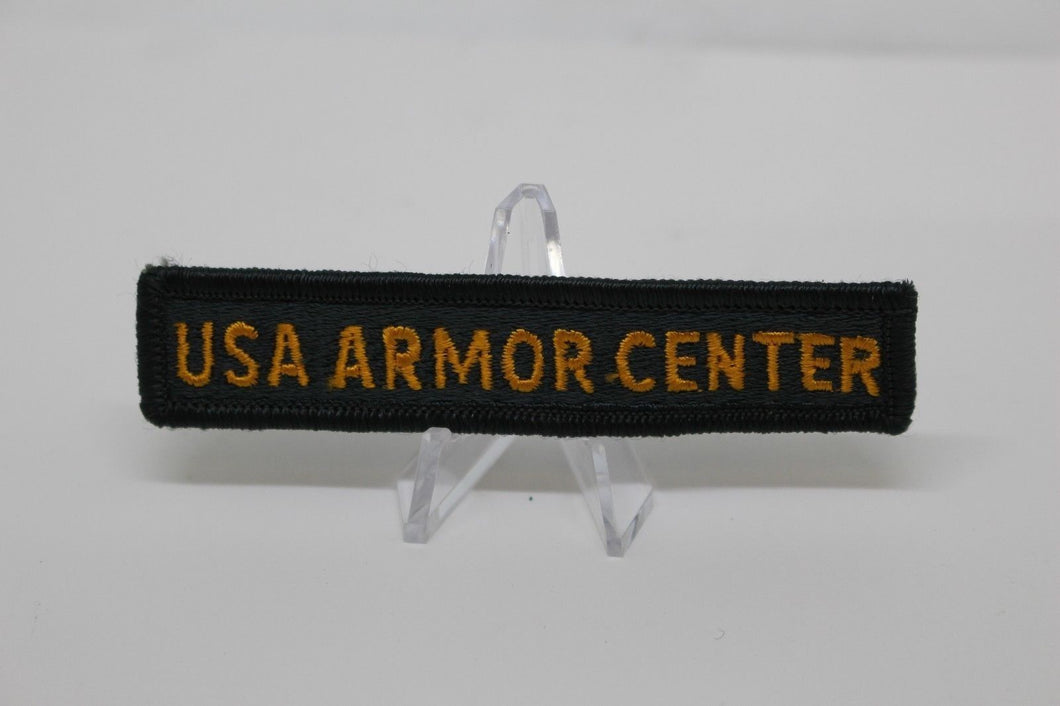 Army USA Armor Center Tab Patch, Sew On, New