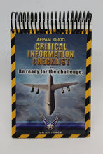 Load image into Gallery viewer, US Military AFPAM 10-100 Airman's Manuel, Critical Information Checklist, June 2004