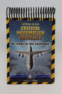 US Military AFPAM 10-100 Airman's Manuel, Critical Information Checklist, June 2004