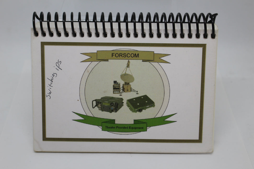 US Army FORSCOM Theater Provided Equipment Booklet