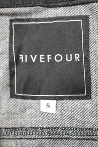 FiveFour Ladies Jacket with Snap Front, Black, Small