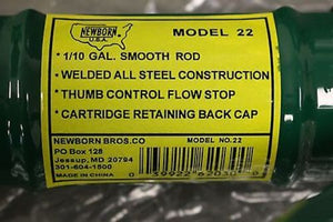 1/10 Gal Smooth Rod Caulking Gun, Newborn Bros.Co Model 22, New