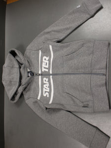Starter Boys Zip Up Jacket, Gray, Small, NWOT