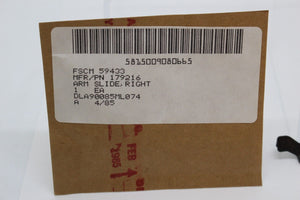 Teletypewriter Subassembly – Right Arm Slide, 179216, 5815-00-908-0665, New