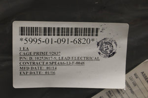 Electrical Lead / Test Lead, 5995-01-091-6820, 10253817-19, New
