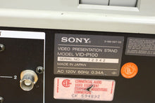 Load image into Gallery viewer, Sony VID-P100 Presentation Stand Document Low Light Color Video Magnifier