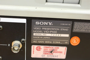Sony VID-P100 Presentation Stand Document Low Light Color Video Magnifier