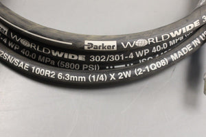 Parker Crane Hose Assembly, Ext. Arm, 302/301-4 WP, 5800 PSI, New