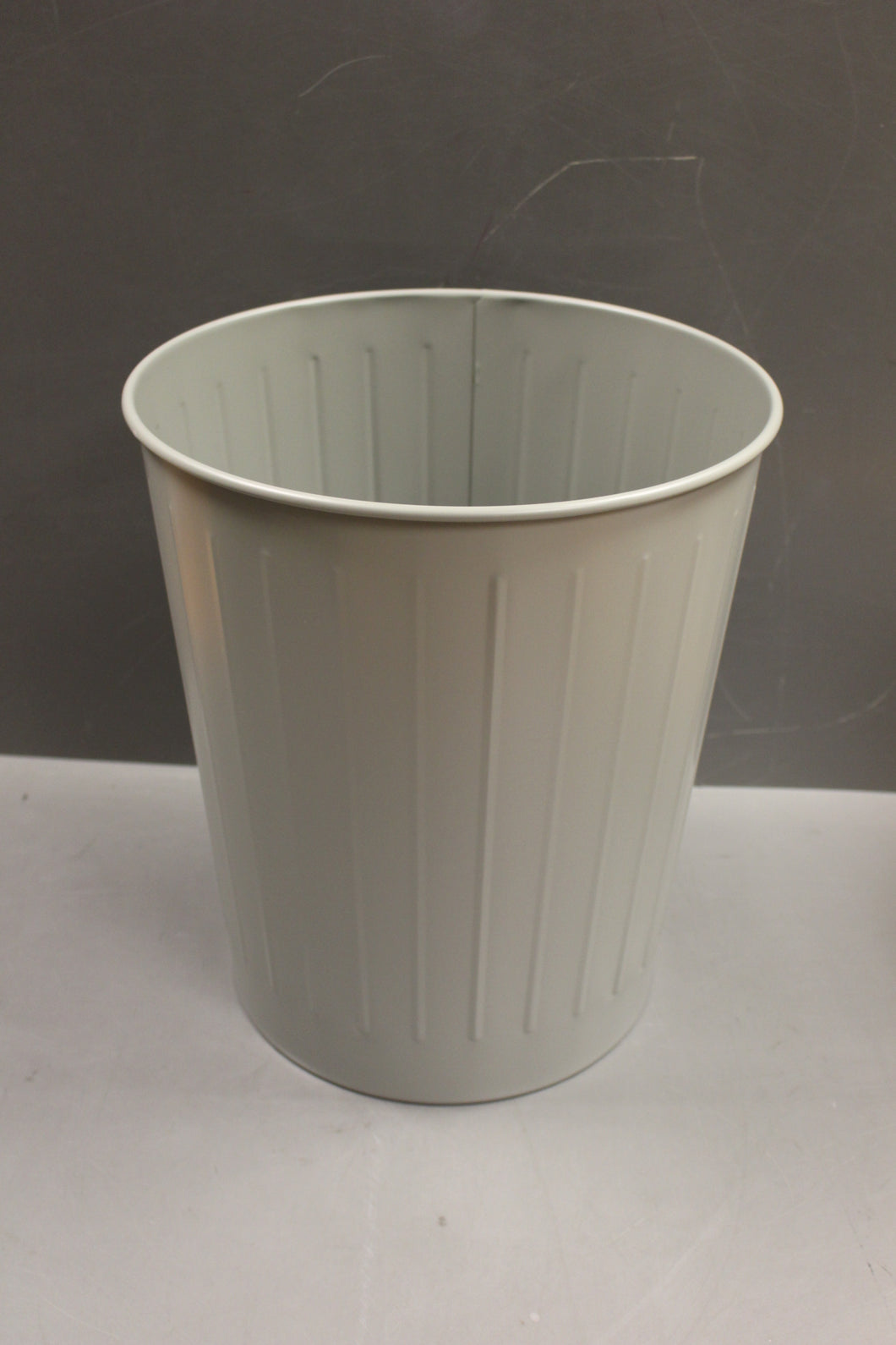 MBA Gray Office Waste Basket / Trash Can, 7520-00-281-5911, New