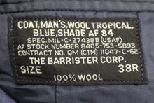 Load image into Gallery viewer, US Military Man's Tropical Wool Dress Coat, 8405-01-086-3870, Size: 39R