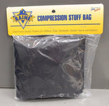 "Raine Compression Stuff Bag, 10"" x 19"", Black, New!"
