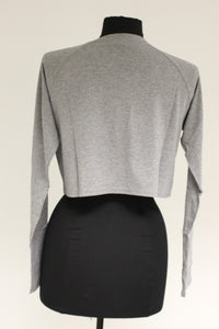 Mae Ladies Crop Top, Size: Small, Grey, New!