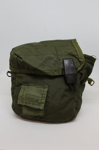 US Military Collapsible Canteen Cover, OD Green, Grade D
