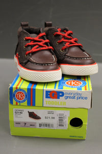 TKS Dennis 52140 Toddler Shoes, Brown, Size: 7 M, New!
