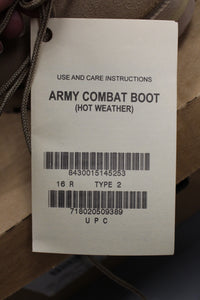 Wellco US Military Combat Boots, Size: 16, 8430-01-514-5253, New!