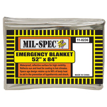"Load image into Gallery viewer, Metalized Emergency Blanket - 84"" x 52"" - New"