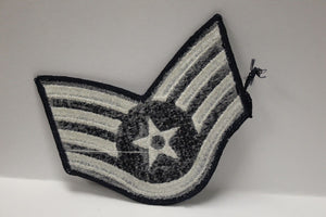 "AF Air Force Embroidered Chevron Staff Sergeant E-5, Small, 3.5"","