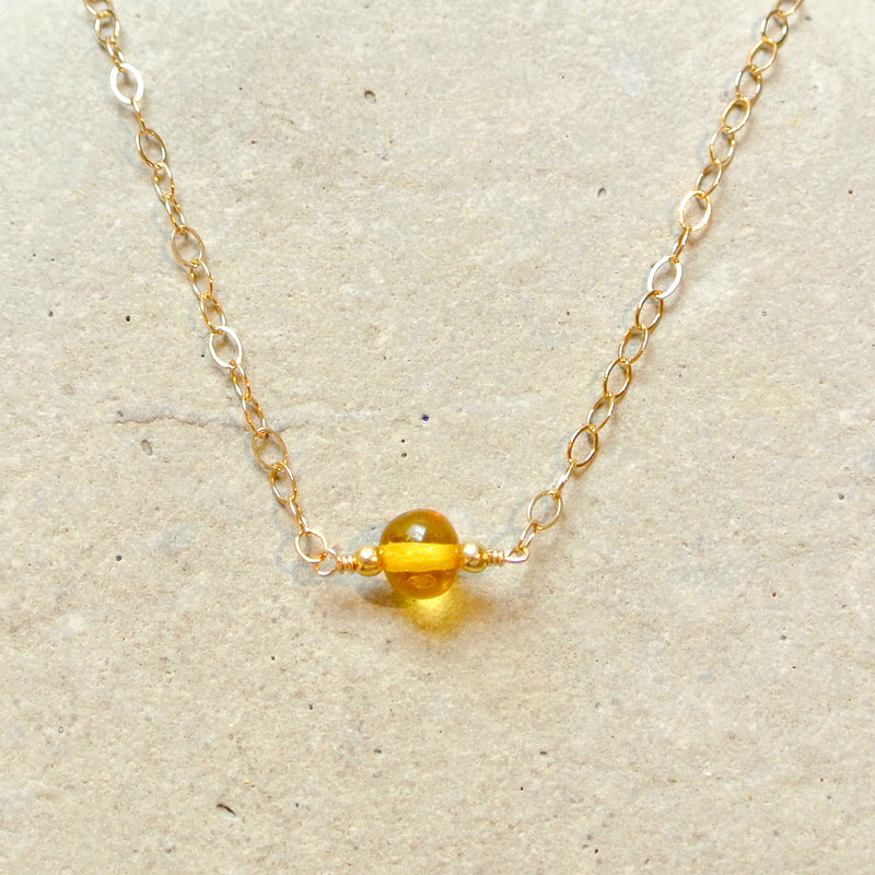 Essential Energy Gemstone Necklace: Amber - Healer/Cleanser