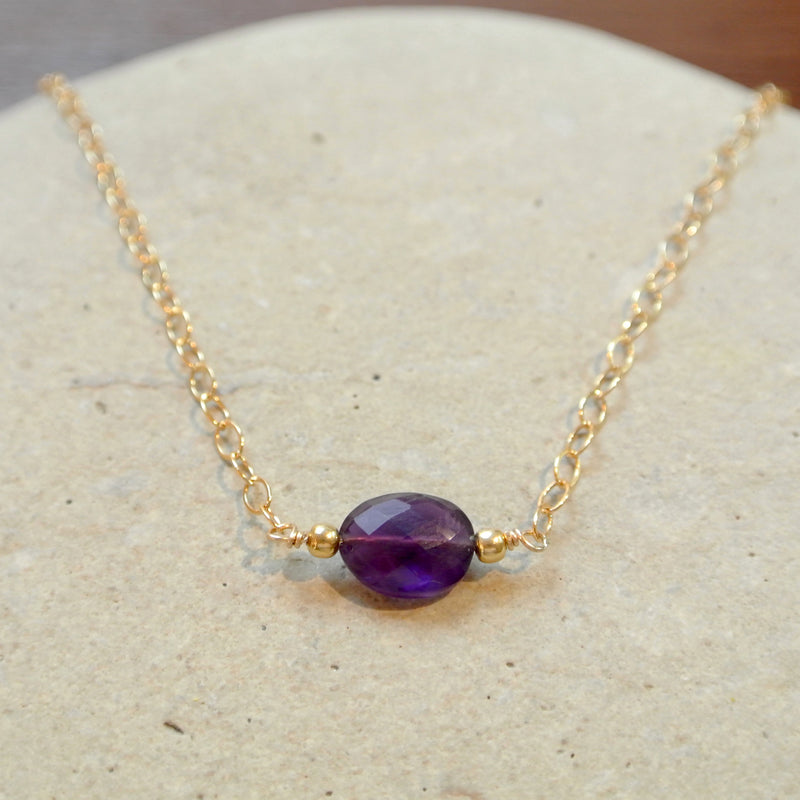 Essential Energy Gemstone Necklace: Amethyst - Protective