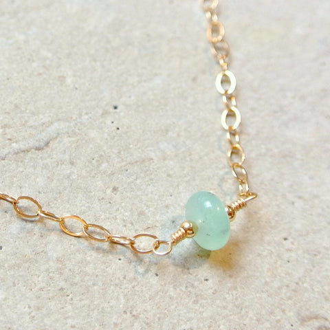 Essential Energy Gemstone Necklace: Peridot - Cleansing