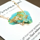 The Essential Gemstone Necklace: Peruvian Opal (Blue)
