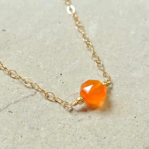 Citrine and White Topaz Necklace