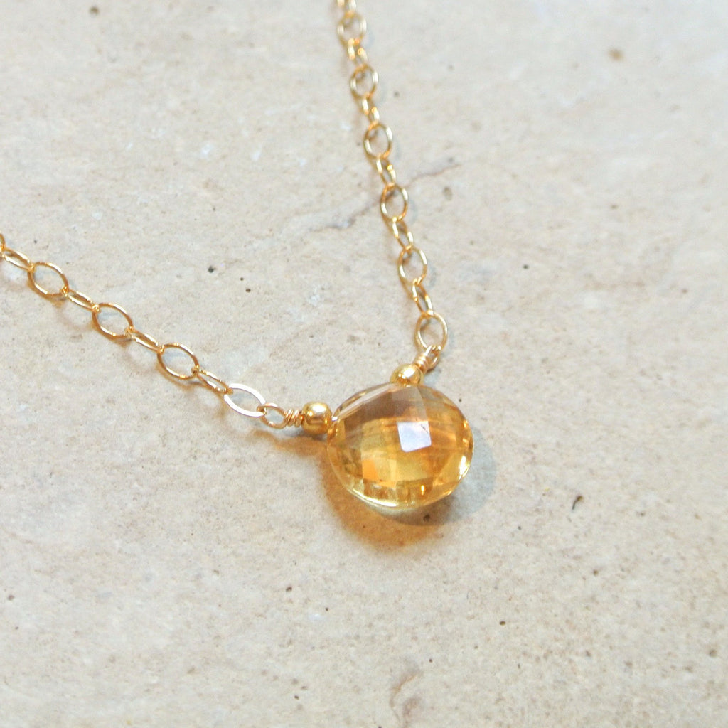 Essential Energy Gemstone Necklace: Citrine - Regenerating