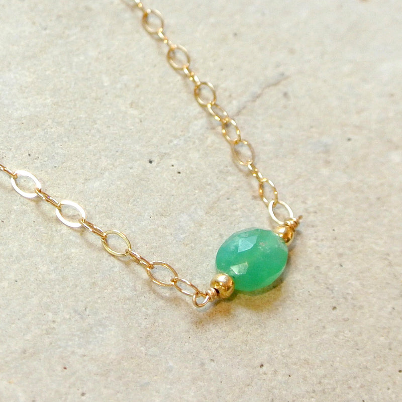 Essential Energy Gemstone Necklace: Emerald - Successful Love