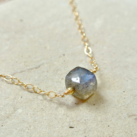 Essential Energy Gemstone Necklace: Iolite -Intuition