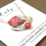 The Essential Gemstone Necklace: Ruby