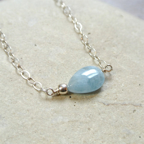 The Essential Gemstone Necklace: Aquamarine