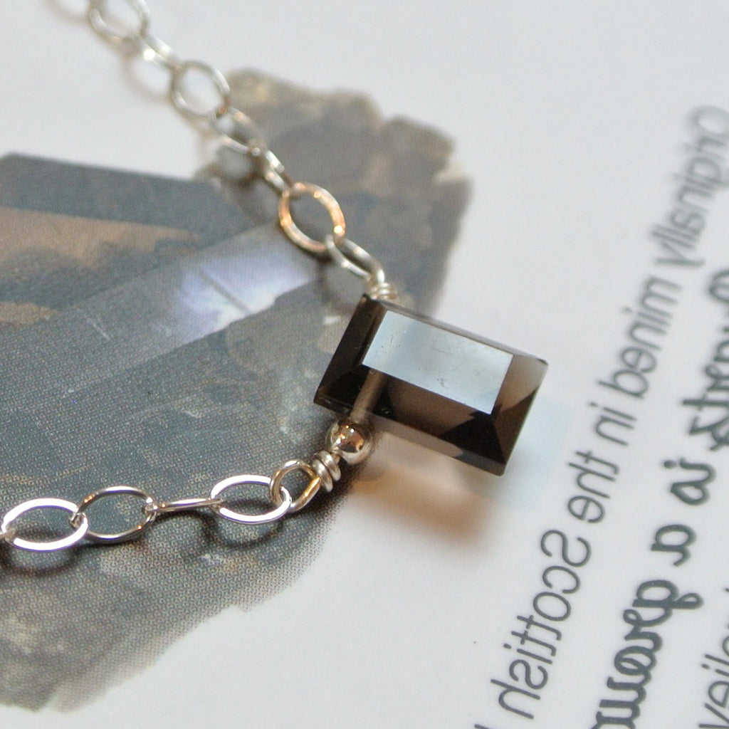 The Essential Gemstone Necklace: Smoky Quartz