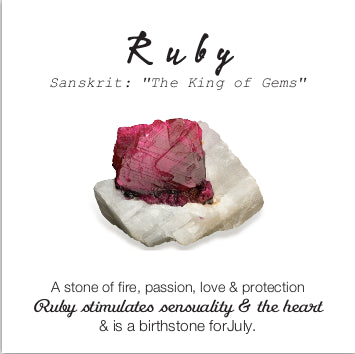 Essential Energy Gemstone Necklace: Ruby - Passion