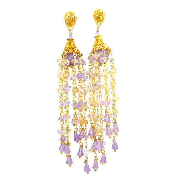 Ametrine Tassel Earrings