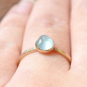 Aquamarine Essential Energy Ring - Calming