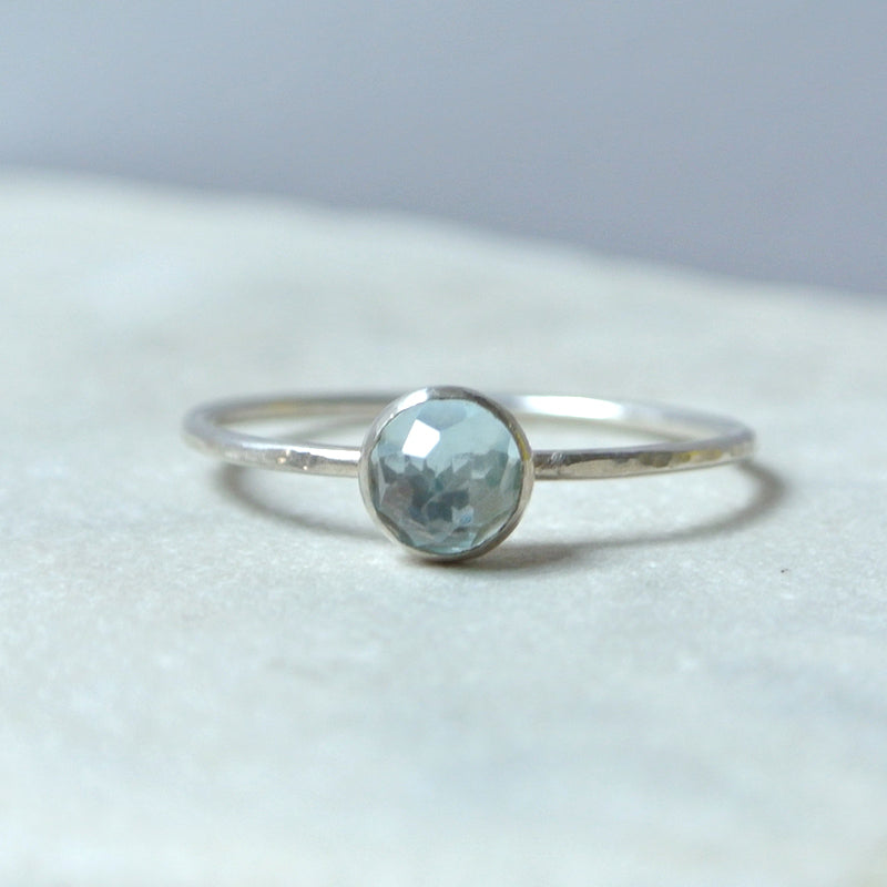 Blue Topaz Essential Gemstone Ring