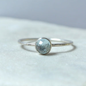 Blue Topaz Essential Energy Ring - Communication