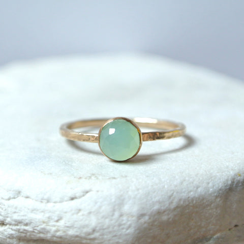 Chrysoprase Essential Gemstone Ring