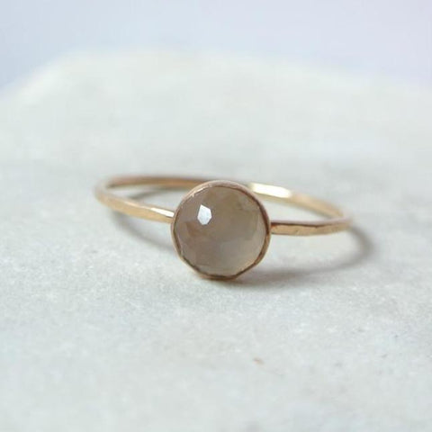 Gray Moonstone Essential Gemstone Ring