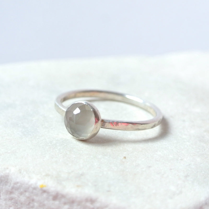 Gray Moonstone Essential Energy Ring - Sweet Dreams