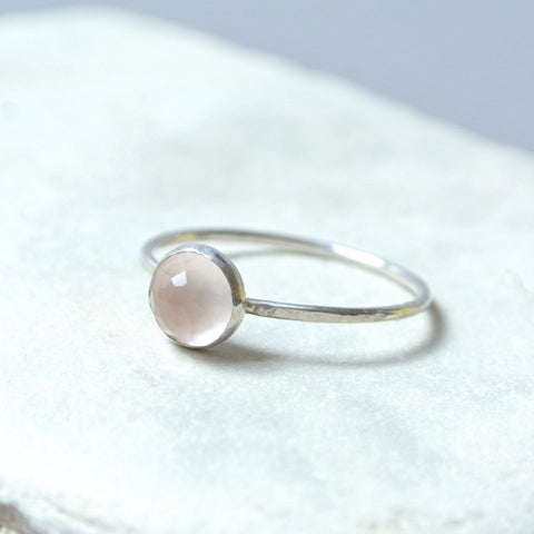 Rose Quartz Essential Gemstone Ring