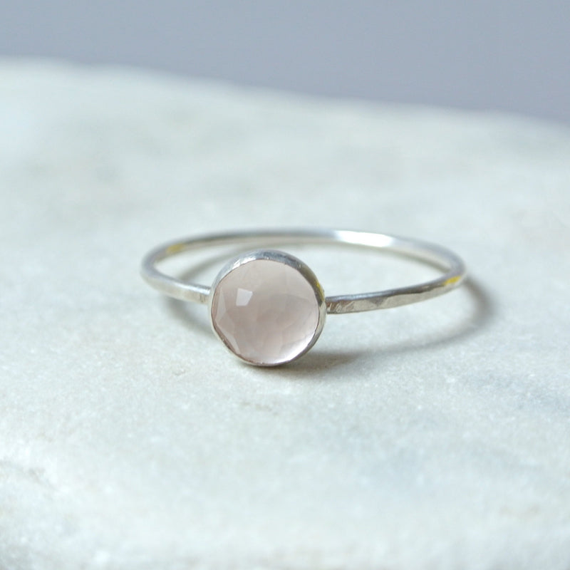 Rose Quartz Essential Energy Ring - Heart