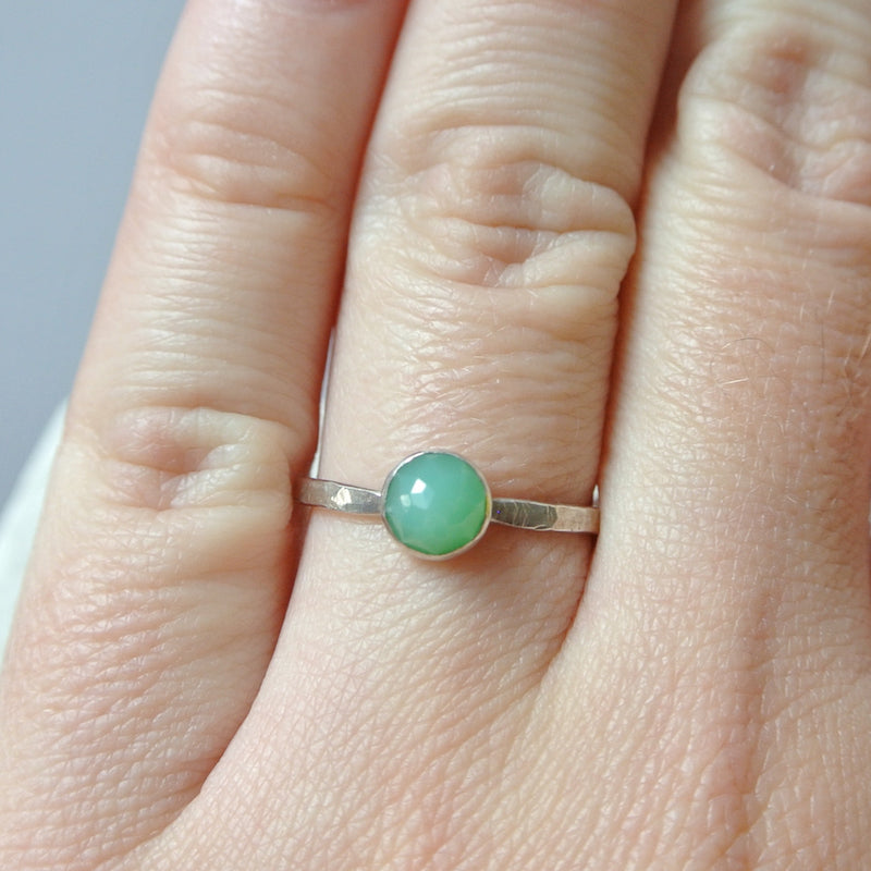 Chrysoprase Essential Energy Ring - Insight